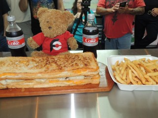 #754 Cafe 57's Cheesy Beast Sandwich Challenge