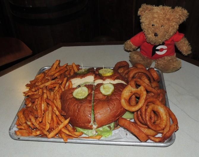 Rattlesnake Saloon's Gigantor Burger Challenge