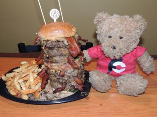 #762 Burger Factory Randy Santel Fat Daddy Burger Challenge
