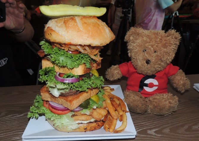 Crabby Joe's Surf N Turf Burger Challenge