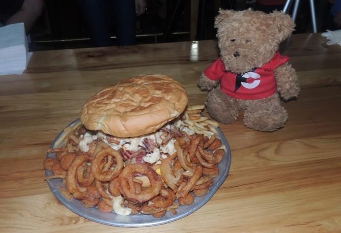 Wagon Train BBQ's Graveyard Burger Challenge