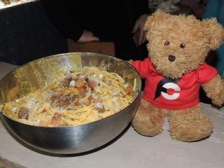 #828 Il Maritozzo Rosso Carbonara Spaghetti Challenge Rome
