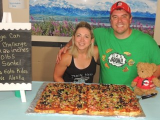 #844 Riverside Pizza Challenge Nenana Alaska Katina Eats Kilos