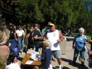Rocking the Elvis Doo at Rocktoberfest Brat Contest